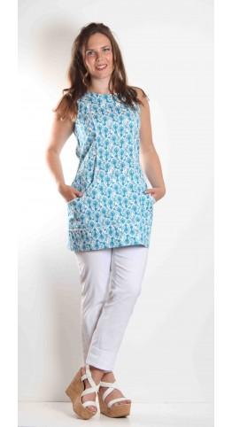 K & Us Sigrid Tunic Turquoise
