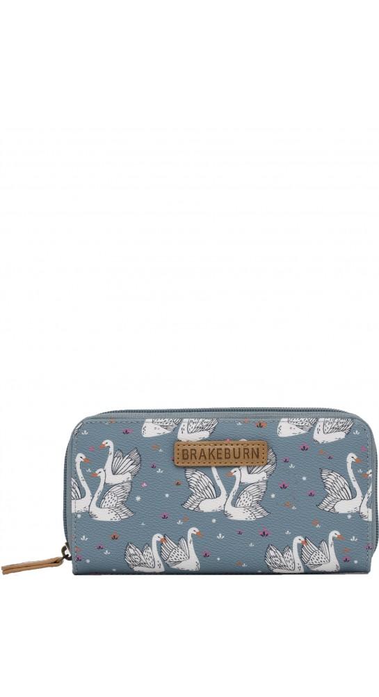 Brakeburn Swans Purse Blue