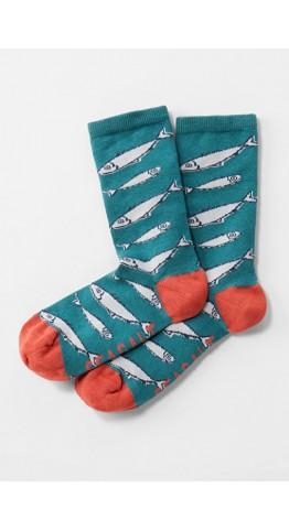 Seasalt Clothing Sailor Socks Big Fish Dark
