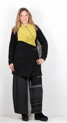 Alembika Fleece Wrap Coat Sunflower