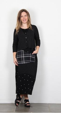 Alembika Pinstripe Jacket/Cardigan Black