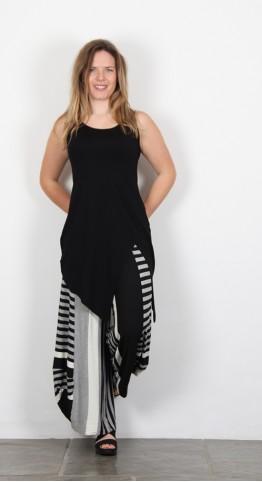 Alembika Sleeveless Asymetric Top Black