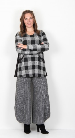 Alembika Checked Swing Tunic Grey