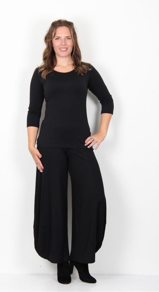 Alembika Jersey Lantern Trousers Black