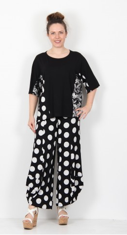 Alembika Half Sleeve Top Black