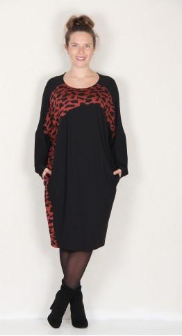 Alembika Batwing Accent Panel Slouch Dress Brick