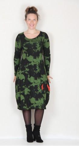 Alembika Camo Print Bubble Dress Green