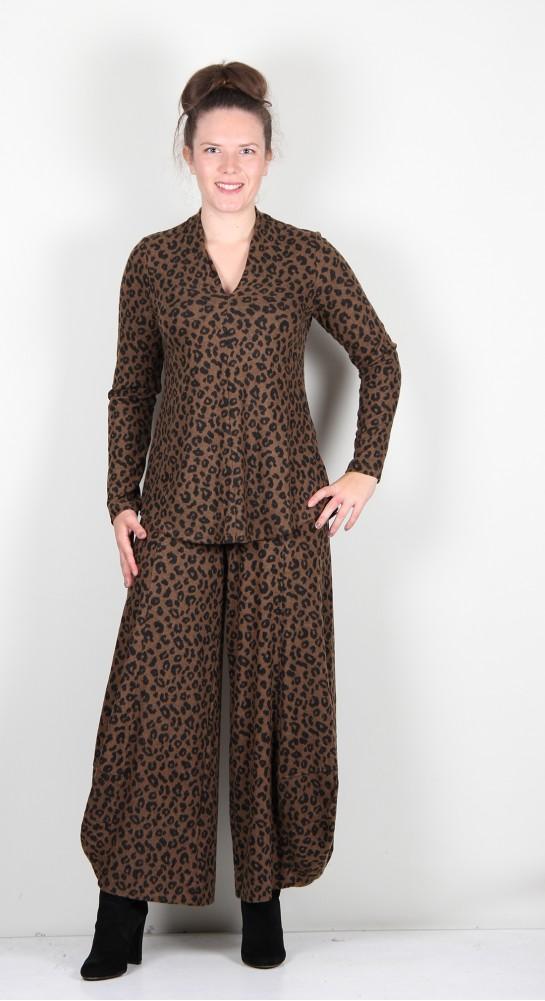 Alembika V-Neck Top Cheetah