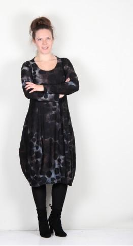 Alembika Echo Spot Cocoon Dress Smoke