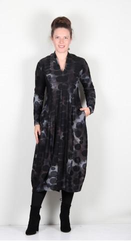 Alembika Echo Spot V-Neck Dress Smoke