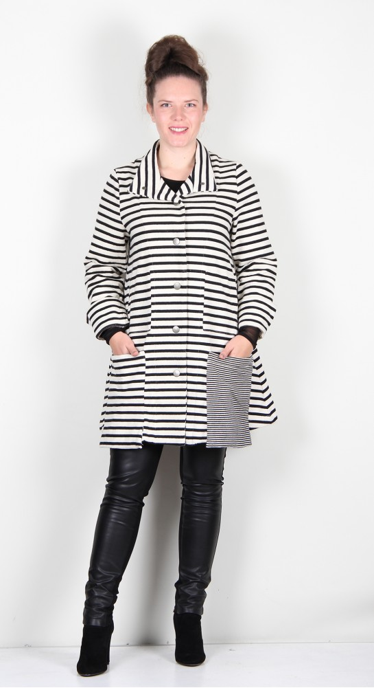 Alembika Urban French Terry Jacket Black/Off White Stripe