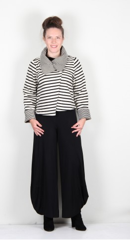 Alembika Urban French Terry Crop Jacket Black/Off White Stripe