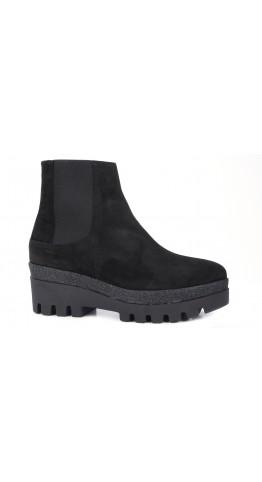 AlpeTeam Flatform Suede Boots Black