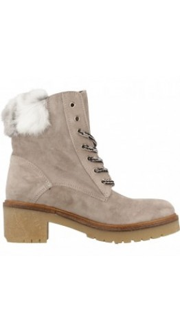 Alpe Team Fur Top Suede Lace Boot Grey