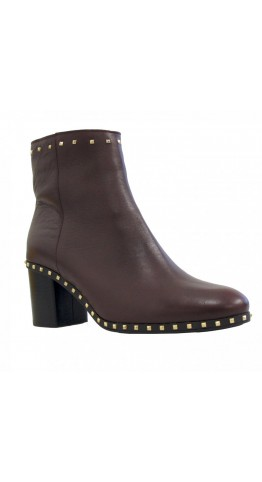 Alpe Team Studded Ankle Boot Wine