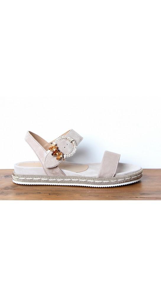 Alpe Suede Diamante Sandal Mink