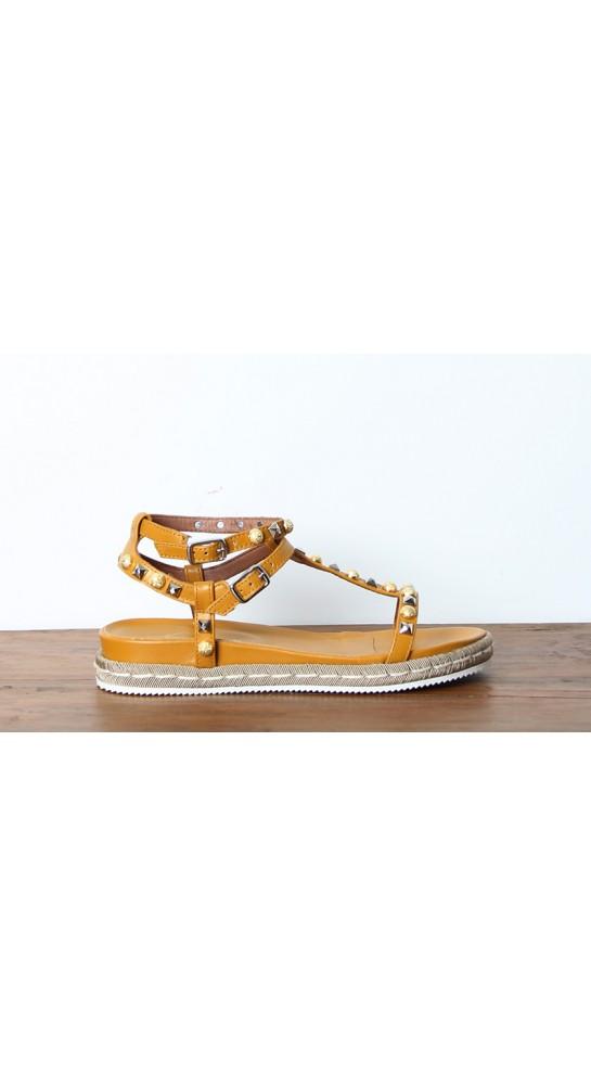 Alpe Gladiator Sandals Mustard