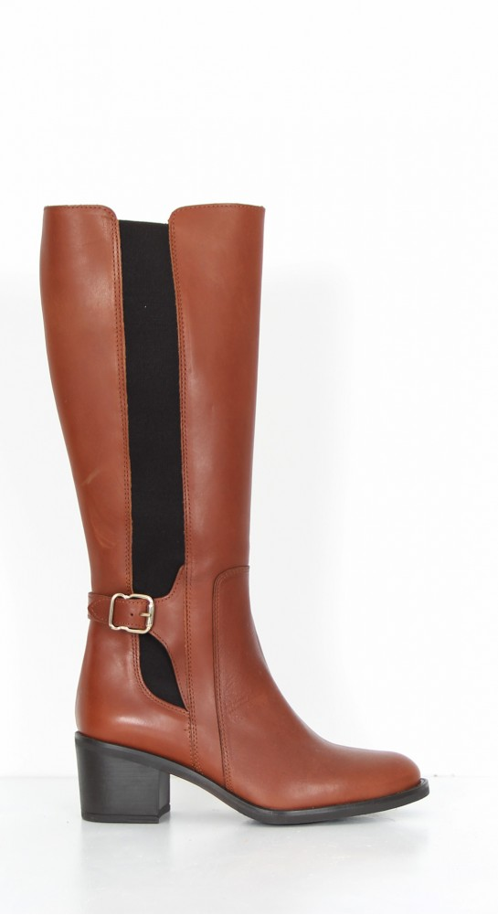 Alpe Side Buckle Tall Boot Brandy