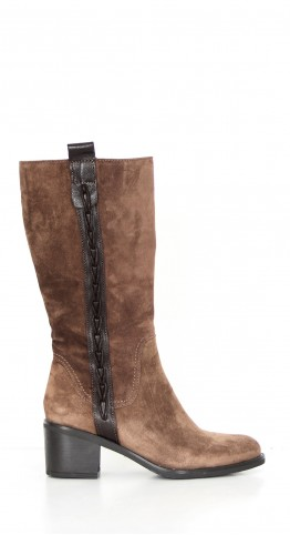 Alpe Side Detail Mid Boot Suede Bison Brown