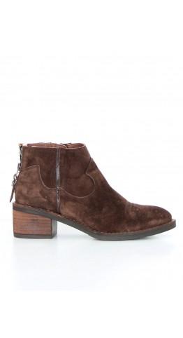 Alpe Western Boot Suede Marrone