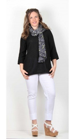 Soft B Scarf Paisley Print Shadow