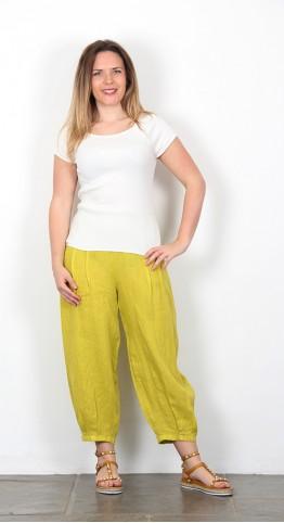 BlueBerry Italia Linen Trouser Lime Green