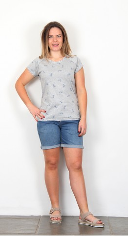 Brakeburn Bike Tee Shirt Grey