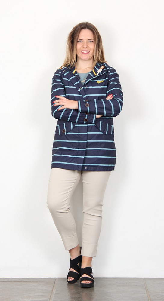 Brakeburn Stripe Jacket Navy