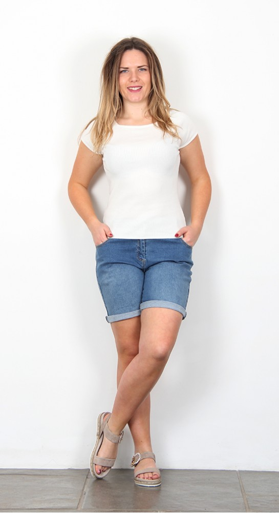 Brakeburn Denim Shorts Blue