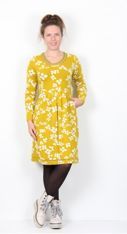 Brakeburn Hydrangea Dress Yellow Bronze
