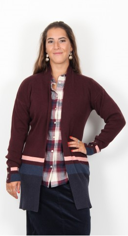Brakeburn Edge To Edge Cardi Berry