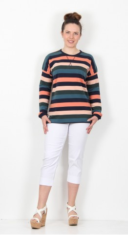 Brakeburn Stripe Sweat Multi