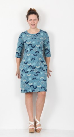 Brakeburn Olivia Tee Shirt Dress Teal