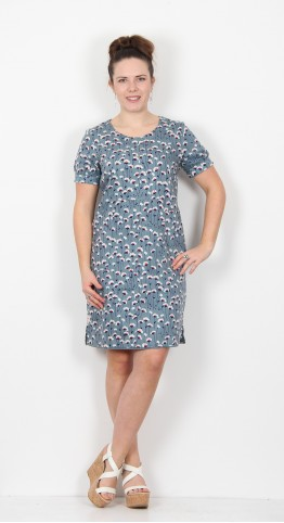 Brakeburn Emily Shift Dress Teal