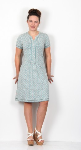 Brakeburn Daisy Jersey Dress Teal