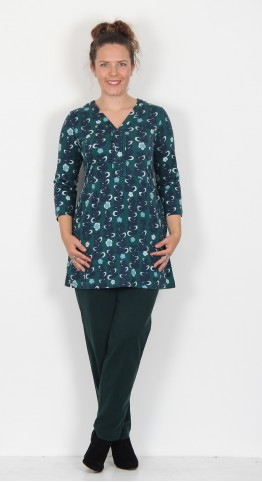 Brakeburn Trailing Flower Tunic Green/Teal
