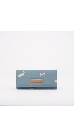 Brakeburn Sausage Dog Hold Over Purse Blue