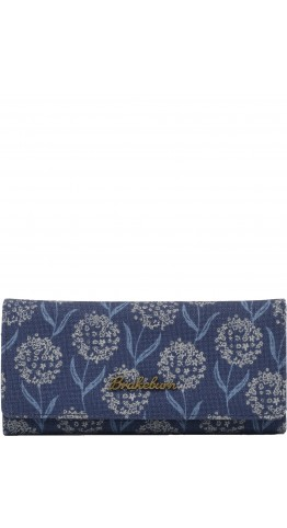 Brakeburn Spring Flower Foldover Purse Denim