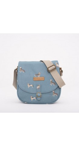 Brakeburn Sausage Dog Saddle Bag Blue