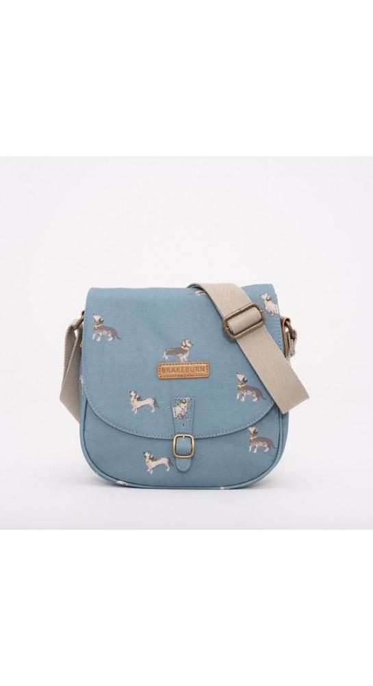 Brakeburn Sausage Dog Saddle Bag Blue