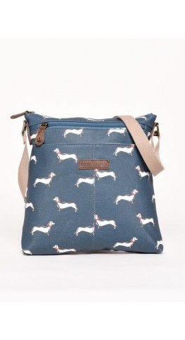 Brakeburn Sausage Dog Cross Body Bag Teal