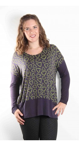 Capri Clothing Polygon Top Lime
