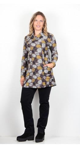 Capri Clothing Walnut Tunic Mustard