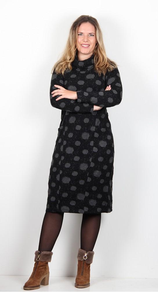 Capri Clothing Cloud Spot Dress Black
