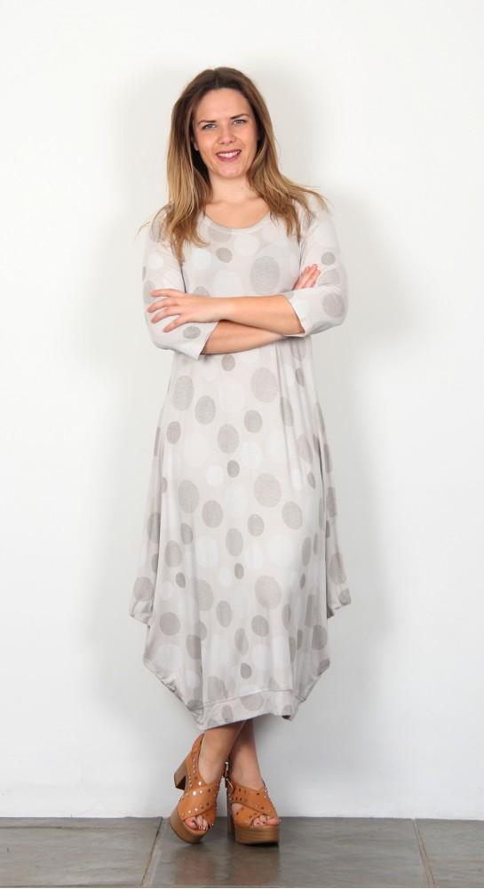 Capri Clothing Milan Print Dress Putty