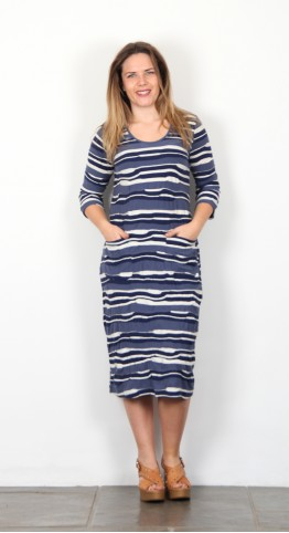 Capri Clothing Nautical Dress Blue Stripe