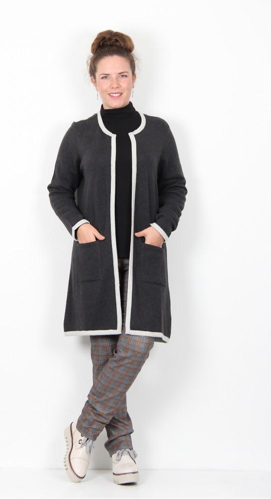 Capri Clothing Edge To Edge Cardi Grey Silver
