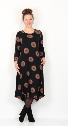 Capri Clothing Bubble Dress Cocoon Print Copper