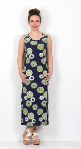 Capri Clothing Stargazer Print Sleeveless Dress Apple