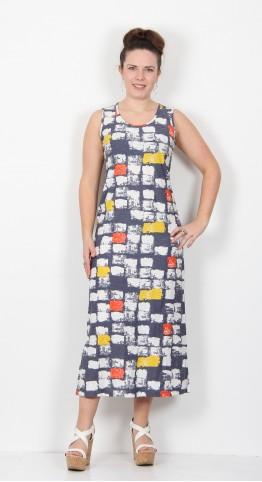 Capri Clothing Macy Print Sleeveless Dress Mandarin Multi